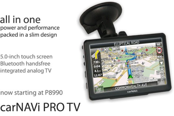 Click here to buy carNAVi PRO TV now