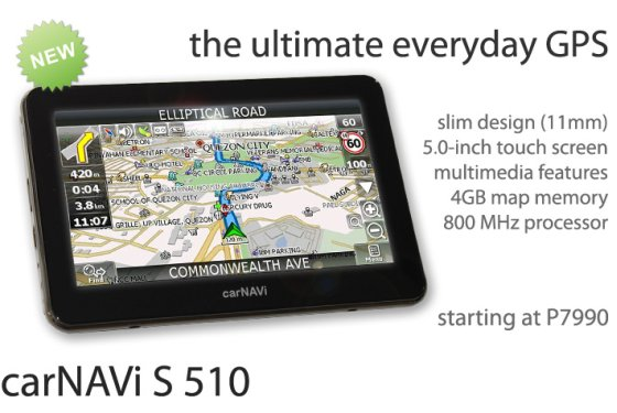 The all new carNAVi S 510 GPS in the Philippines | carNAVi