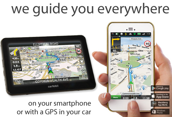 Get your carNAVi GPS today, follow this link to the carNAVi store online.