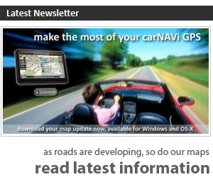 The carNAVi newsletter informs you regularly about GPS related topics in the Philippines. GPS is useful for folks who have been driving for quite some time and for first-time drivers – Read about the results of a research which prove the positive influence of satellite navigation devices on driving and traffic safety. carNAVi is continously improving the digital GPS map of the Philippines and we'd like to encourage you to actively help in getting the maps better by reporting incorrect map and routing data. As mentioned at the beginning, we have moved to our new office building in Quezon City. The team is fully operational at the new location. Our new carNAVi showroom and training facilities will follow in a few weeks. Please take note of our new phone number, call us at (02) 2264055.
